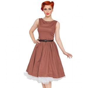 Lindy Bop audrey vintage 1950s cognac swing dress